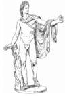 Malvorlage  Apollo, ein griechischer Gott