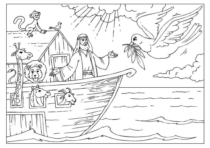 Malvorlage Arche Noah | Ausmalbild 25955.