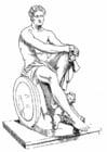 Malvorlage  Ares, ein griechischer Gott