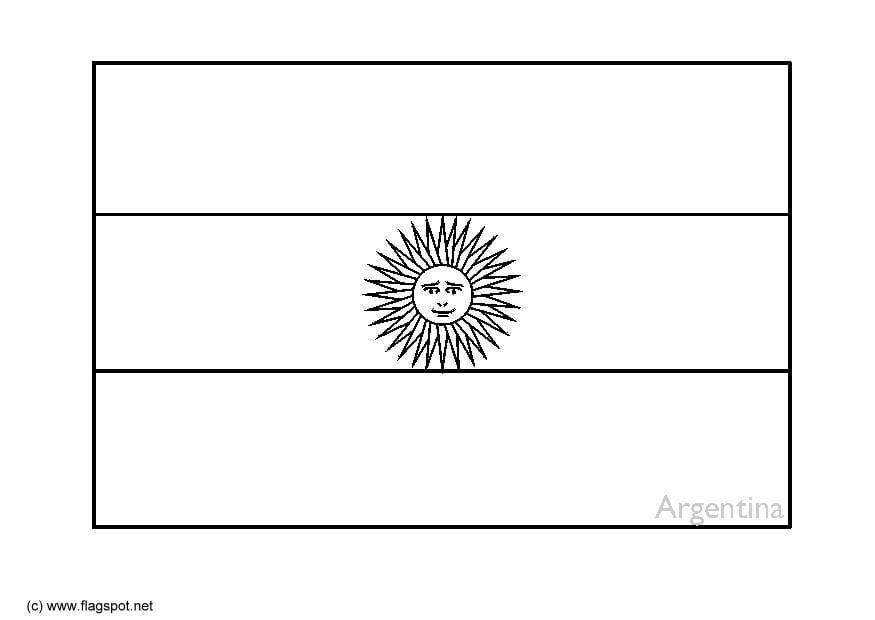 Malvorlage argentinien ausmalbild 6343 - Drapeau argentine coloriage ...