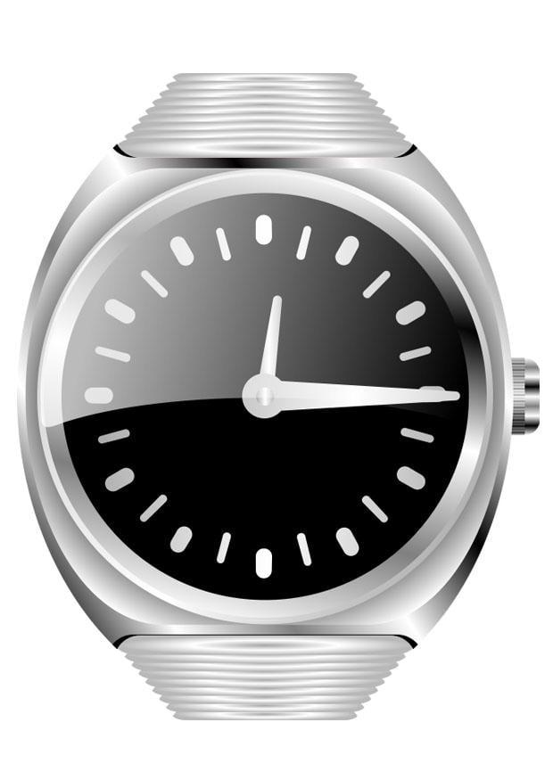 Malvorlage Armbanduhr   Ausmalbild 27114.