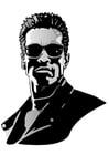 Malvorlage  Arnold Schwarzenegger
