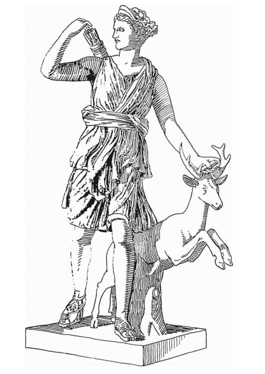 Malvorlage Artemis, Göttin aus der griechischen Mythologie ...