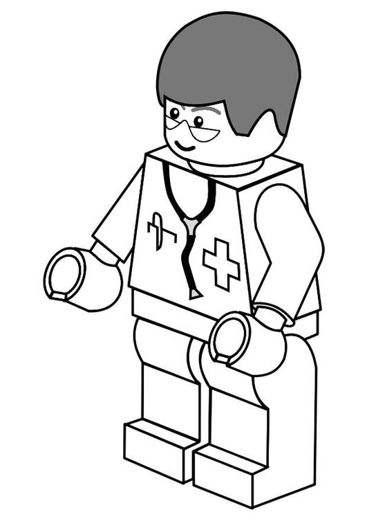 Malvorlage Arzt | Ausmalbild 20133.