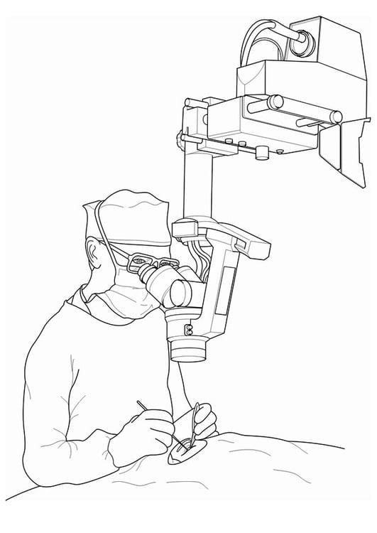 malvorlage arzt  operation  ausmalbild 17094