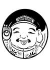 Malvorlage  asiatische Figur