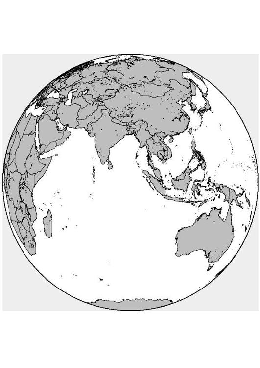 Malvorlage Asien | Ausmalbild 8316.