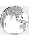 Malvorlage  Asien