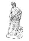Malvorlage  Asklepios