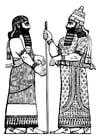Malvorlage  Assyrischer König