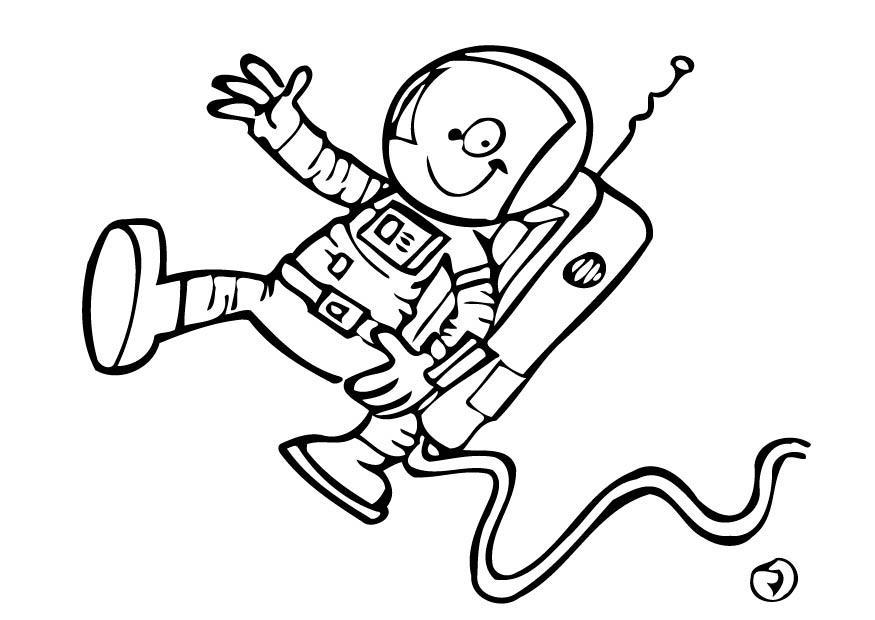 Malvorlage Astronaut   Ausmalbild 12754.