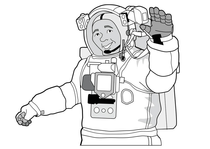 Malvorlage Astronaut   Ausmalbild 17081.