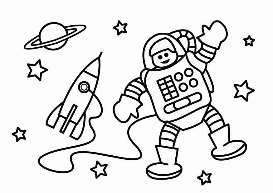 Malvorlage Astronaut   Ausmalbild 26802.