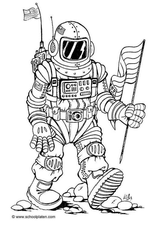 Malvorlage Astronaut Kostenlose Ausmalbilder Zum Ausdrucken