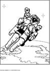 Malvorlage  Astronaut