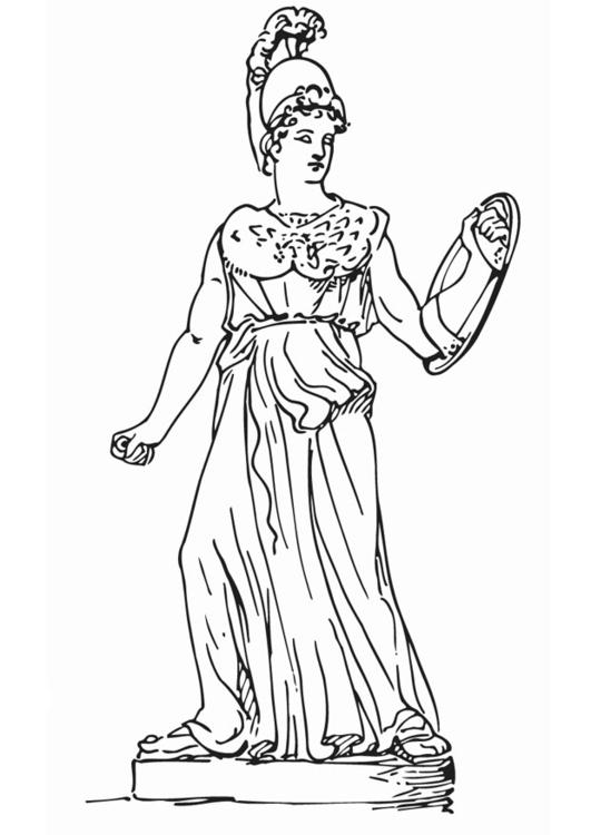 Malvorlage Athena | Ausmalbild 12916.