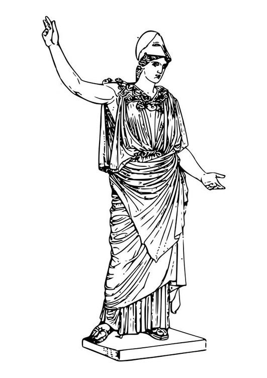 Malvorlage Athena | Ausmalbild 18601.