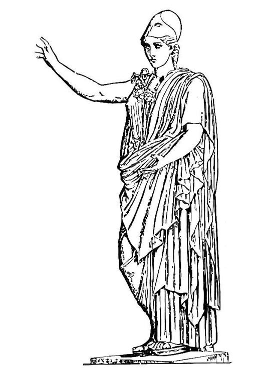Malvorlage Athene | Ausmalbild 11006.
