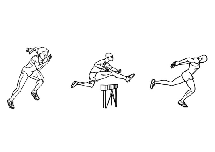 malvorlage athletik  laufen  kostenlose ausmalbilder zum