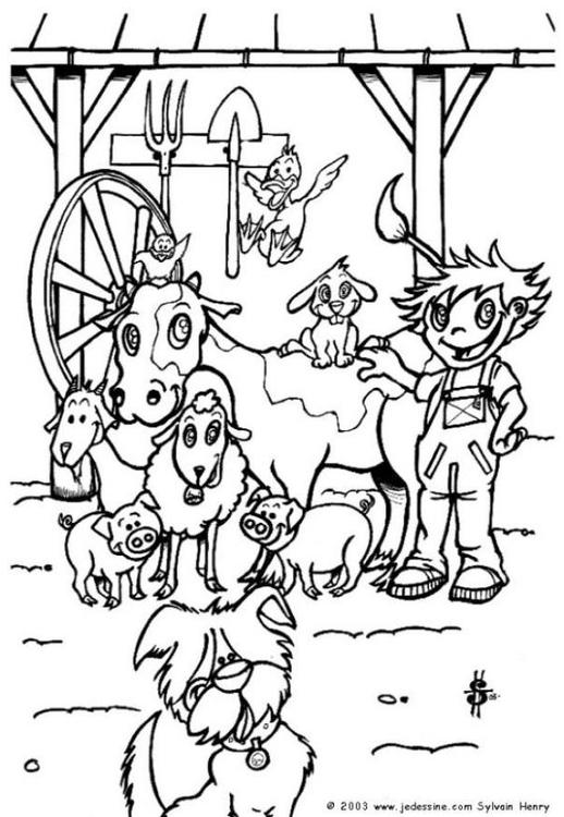 Malvorlage Auf Dem Bauernhof Kostenlose Ausmalbilder Zum Ausdrucken Bild 6462
