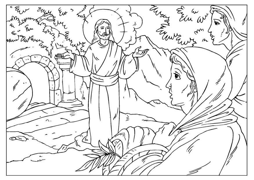 Malvorlage Auferstehung Jesus | Ausmalbild 25921.