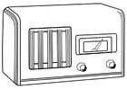 Malvorlage  ausgeschaltetes Radio