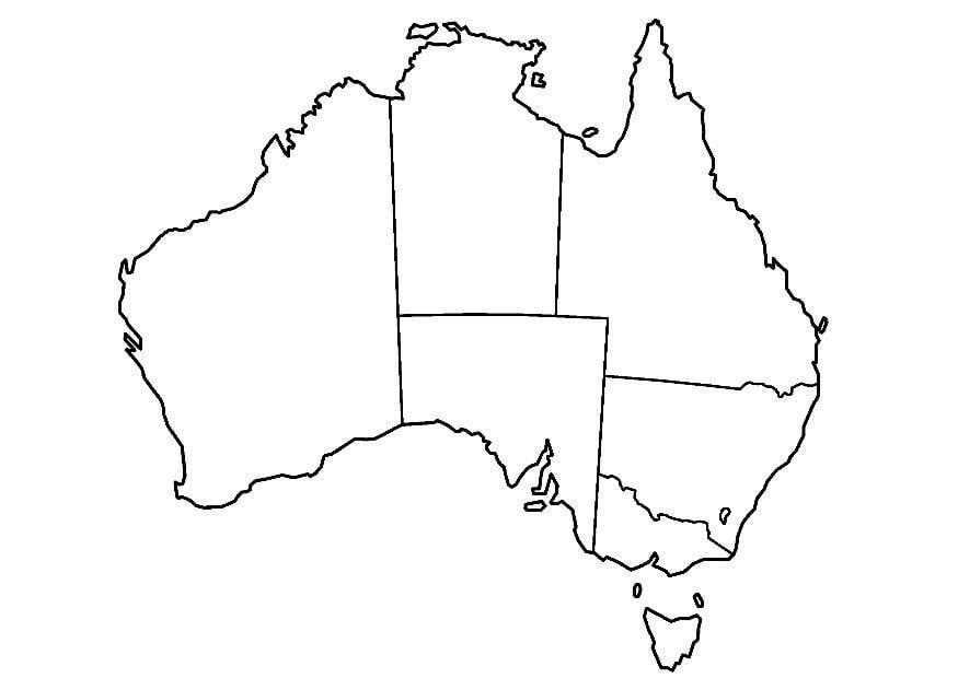 Malvorlage Australien | Ausmalbild 8321.