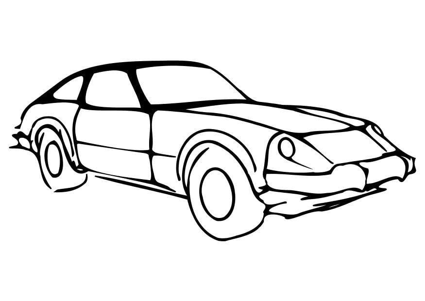 Malvorlage Auto | Ausmalbild 10259.