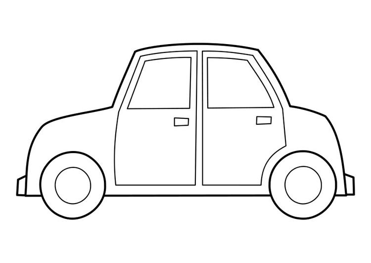 Malvorlage Auto   Ausmalbild 22848.