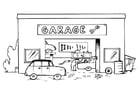 Malvorlage  Autowerkstatt