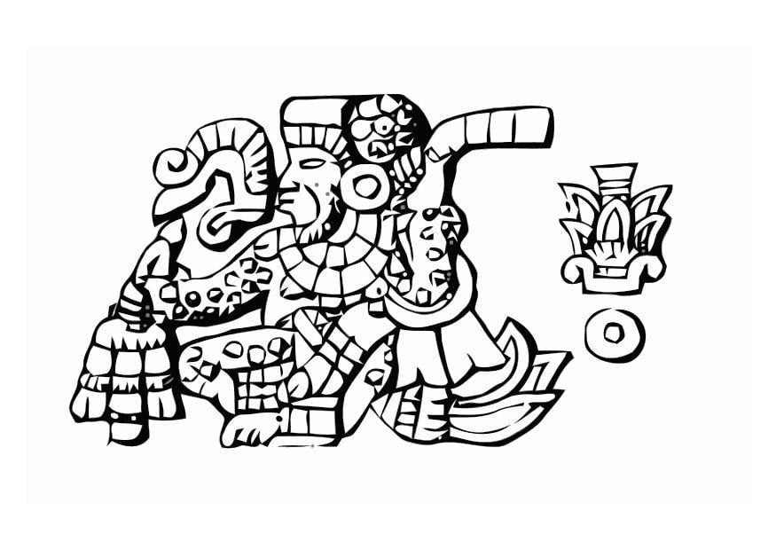 Ungewöhnlich Aztekische Kalender Malvorlagen Ideen - Ideen färben ...