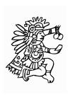 Malvorlage  Azteken