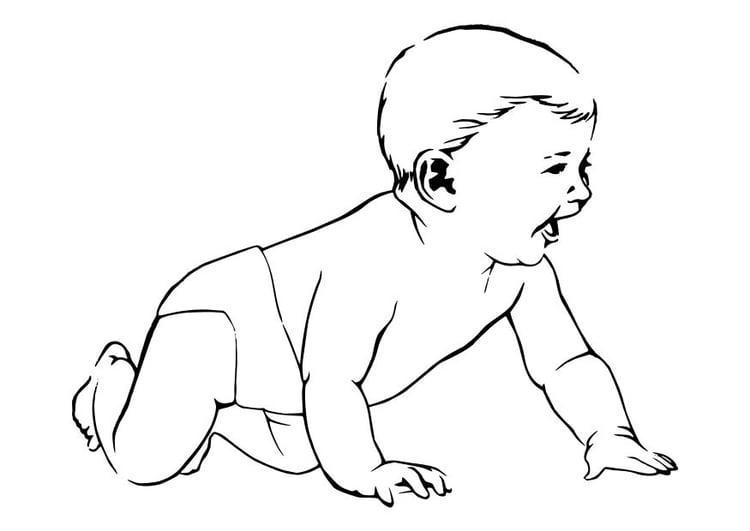 Malvorlage Baby   Ausmalbild 10623.
