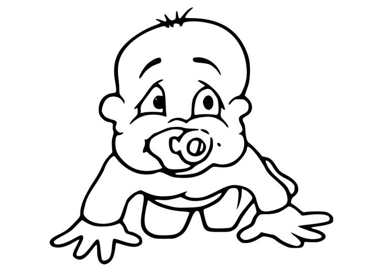 Malvorlage Baby | Ausmalbild 27381.