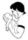 Malvorlage  Baby