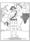 Malvorlage  Bacchus und Dionysos