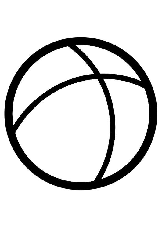 Malvorlage Ball | Ausmalbild 28254.
