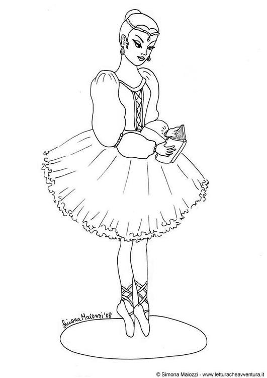 Malvorlage Ballerina | Ausmalbild 12398.