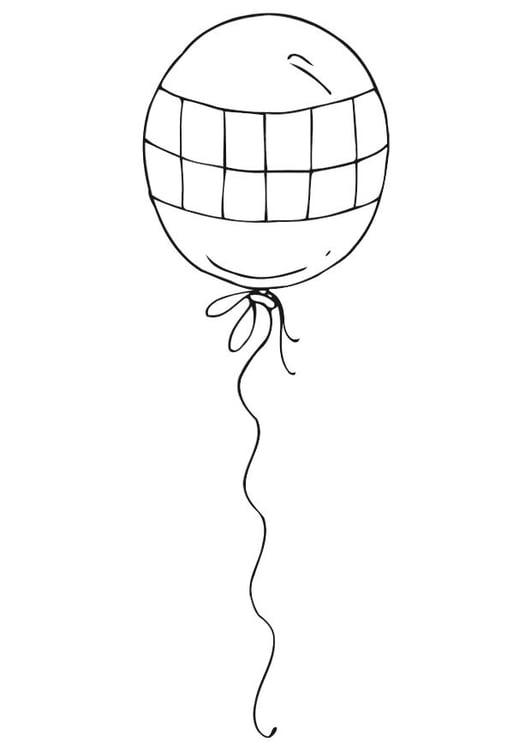 Malvorlage Ballon | Ausmalbild 12542.