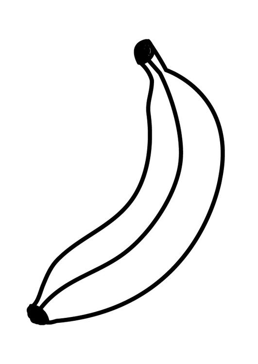 Malvorlage Banane | Ausmalbild 23171.