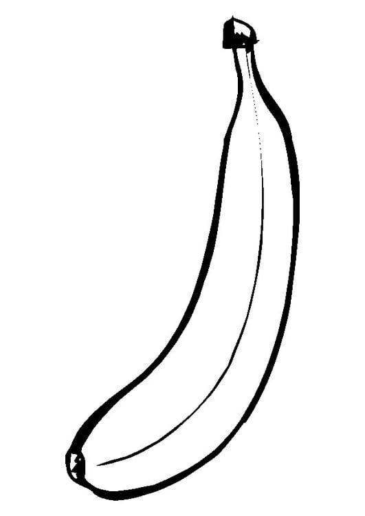 Malvorlage Banane | Ausmalbild 9550.