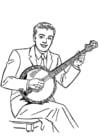 Malvorlage  Banjo