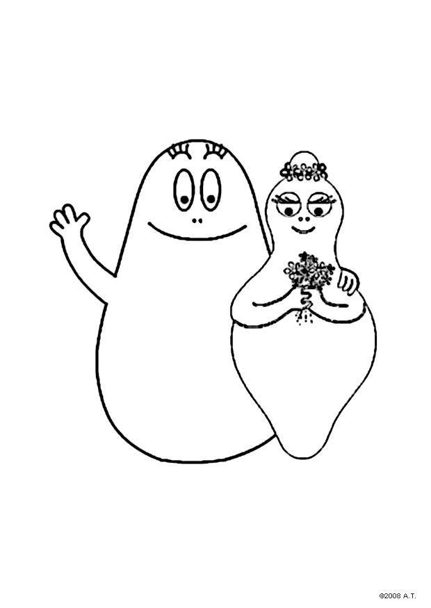 Malvorlage Barbapapa Und Barbamama Ausmalbild 9626