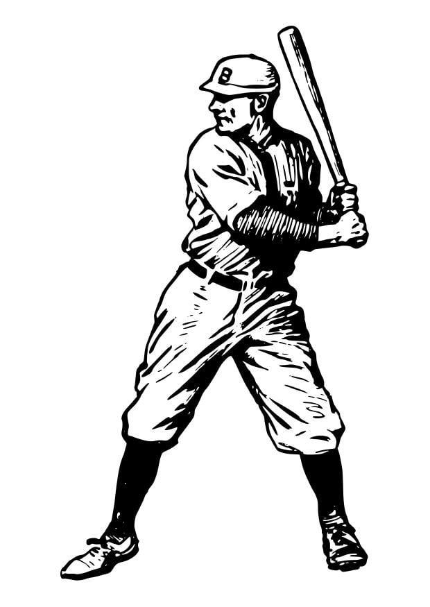 Atemberaubend Malvorlagen Für Baseball Spieler Zeitgenössisch ...