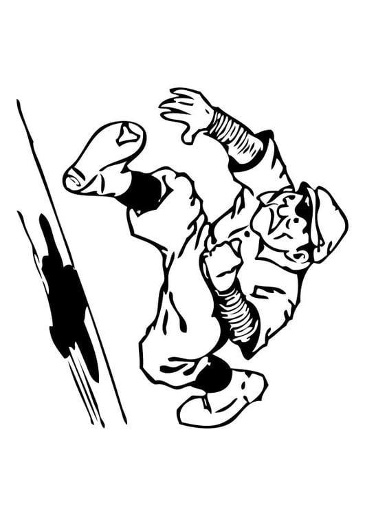 Malvorlage Baseball homerun   Ausmalbild 10537.