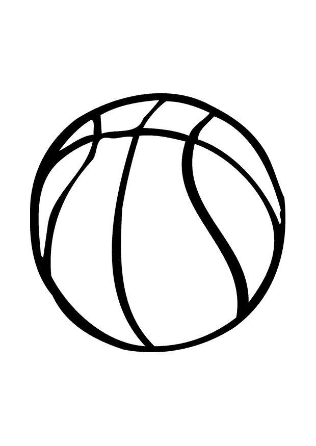 Malvorlage Basketball | Ausmalbild 10388.