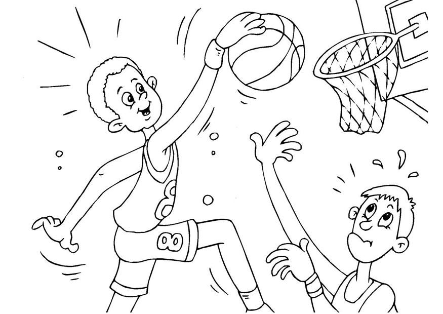 Malvorlage Basketball | Ausmalbild 25987.