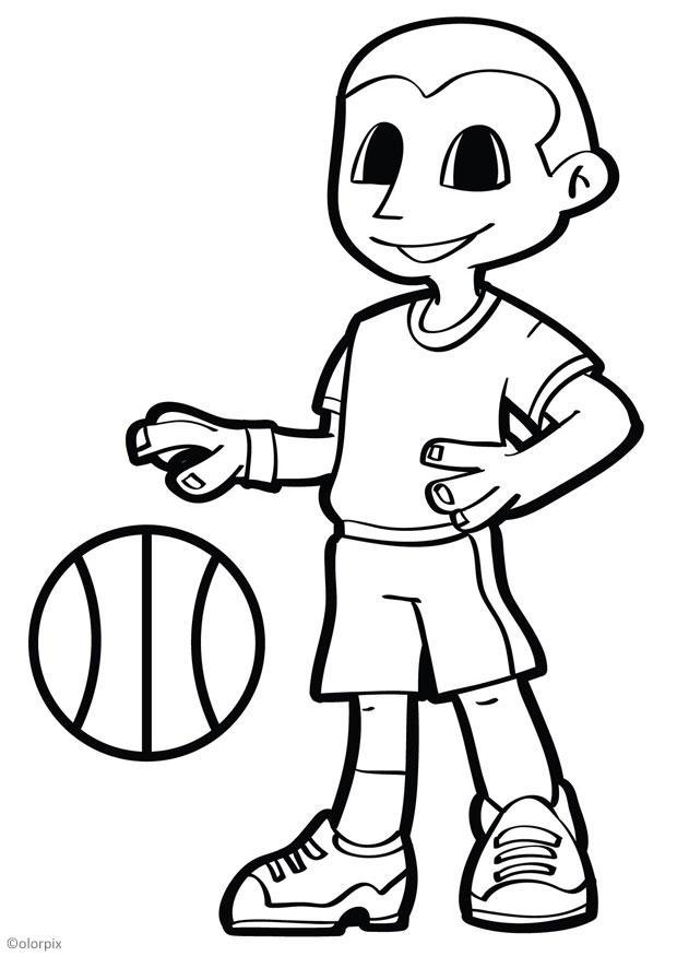 Malvorlage Basketball | Ausmalbild 26045.
