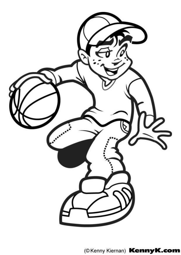 Malvorlage Basketball | Ausmalbild 7020.