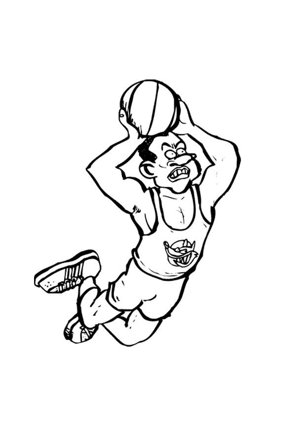 Malvorlage Basketball | Ausmalbild 9678.